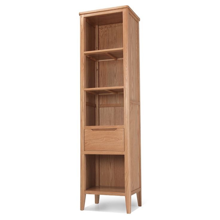 Skane County Oak Slim Bookcase