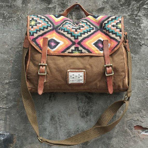 India Leisure mens and womens single shoulder bag Leather Canvas Messenger Bag Washed Canvas Bag Camera Bag Laptop Bag 1114