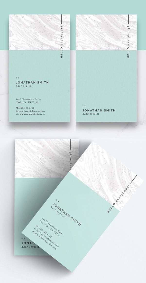 Clean And Minimal Business Card Branding Pinterest Business