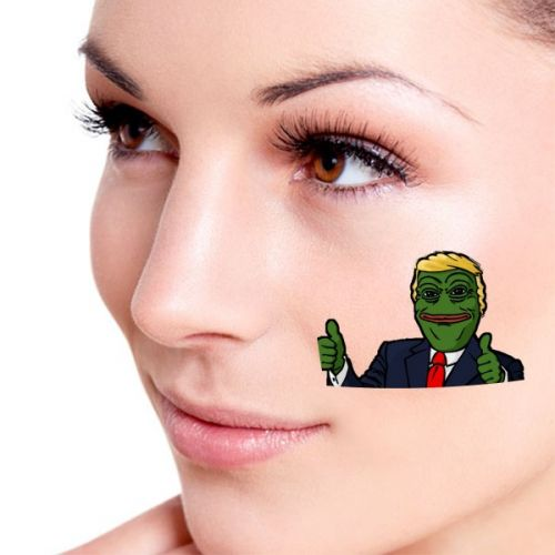 America American President Sad Frog Trump Funny Let's Make America Great Again Ridiculous Spoof Meme Image Temporary Tattoos Waterproof Tattoo Party Use Facial Decoration #Tattoo #Trump #TemporaryTattoos #Funny #WaterproofTattoo #Ridiculous #FacialDecoration #Angry #Meme #President #Spoof #AmericanPresident #America #SadFrog #Cartoon