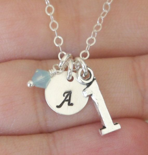 First Birthday Gifts For Girls, One Charm Necklace, 1