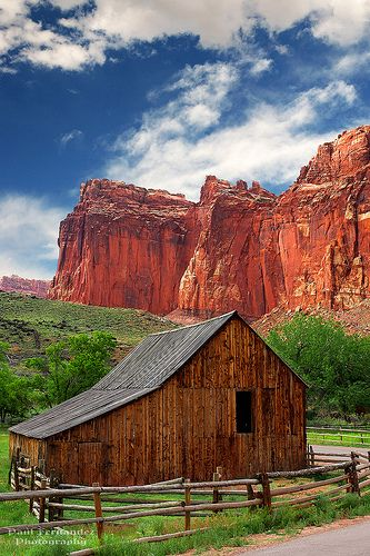 Old Barn Near Fruita at Capitol Reef National Park, Utah - I've been here many times.  Beautiful!