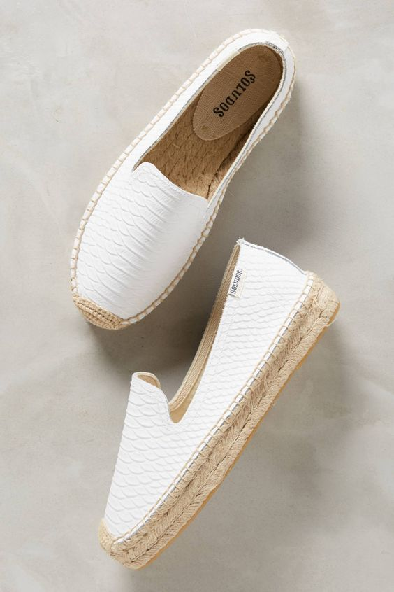 38 Flat shoes for the summer start #espadrilles #shoes #soludos #flats   – Lindas zapatillas