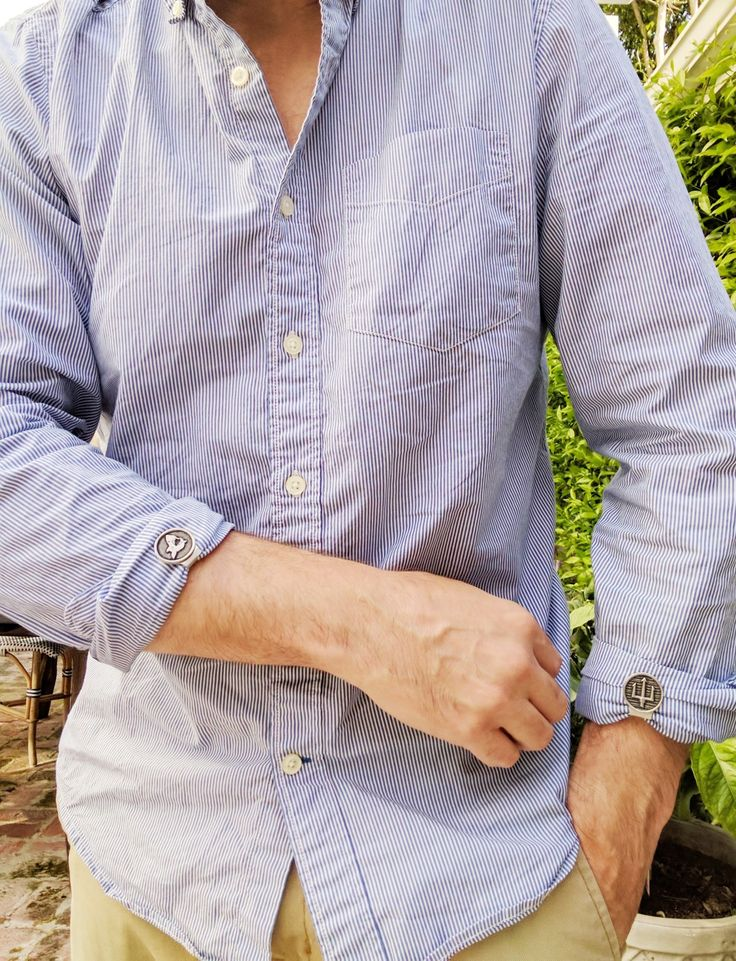 Sleeve Clips!  Dapper looking locks for rolled sleeves.  Subtle yet definitely eye-catching.