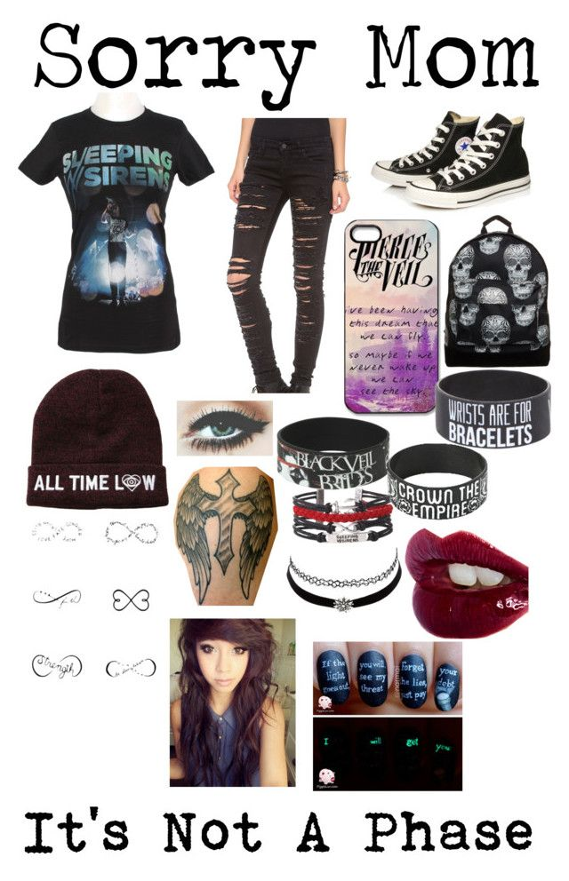 """I'm Me"" by daniinightmare ❤ liked on Polyvore featuring beauty, Blank Denim, Converse, Mi-Pac, Tattify, Charlotte Russe, Charlotte Tilbury, emo, band and BeautifulScreams"