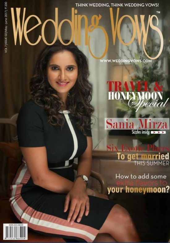 bollywoodmirchitadka: Sania Mirza On The Cover of Wedding Vows Magazine ...