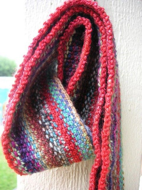 Scrappy Lengthwise Scarf KNIT PATTERN Scarf knit, Knit patterns and Scarfs