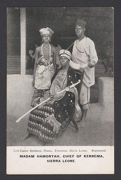 Madam Hamonyah, chief of Kennema, Sierra Leone 1905.