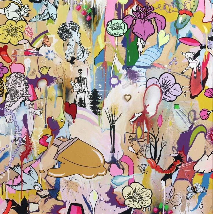 Love Silkscreen Print by Dan Baldwin