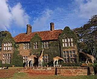 Giraffe Manor in Kenya, where giraffes poke their heads through the window to join you for dinner. seriously!