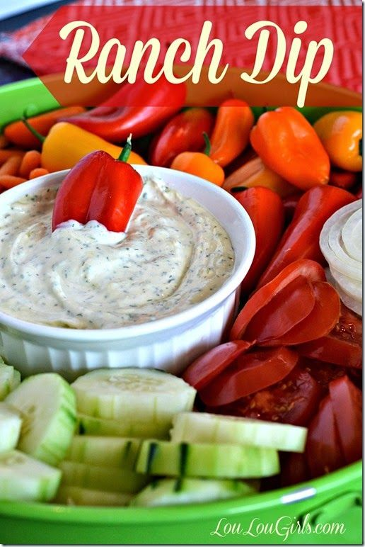Lou  Lou  Girls : Homemade Ranch Dip from Scratch (Whole 30)