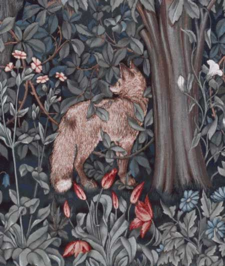 Scarlet Quince cross stitch chart: Greenery (Fox) - John Henry Dearle