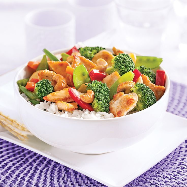 Vous pouvez servir ce sauté sur un nid de vermicelles ou de riz. Pour des saveurs encore plus «orientales», faites cuire votre riz dans du lait de coco!