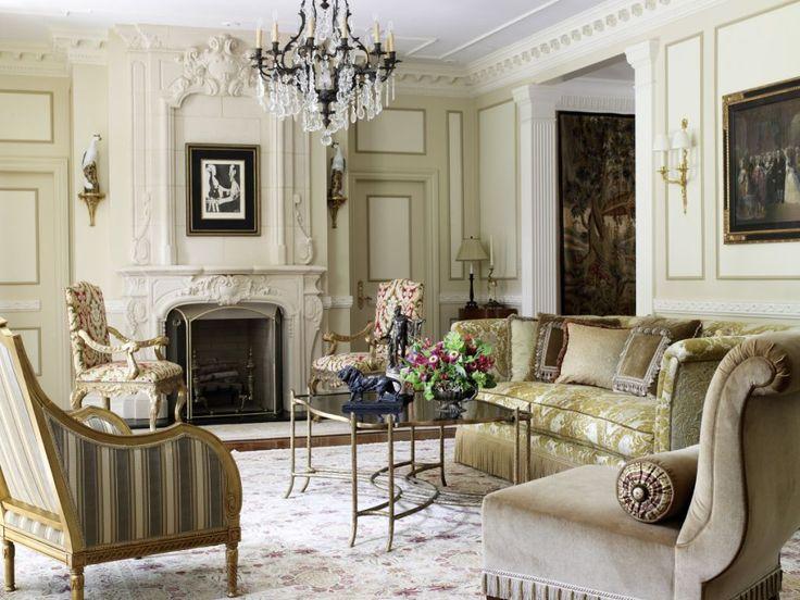 Французские интерьеры: 80 роскошных идей для аристократов и просто ценителей прекрасного http://happymodern.ru/francuzskie-interery/ Антикварные картины на стенах в французской гостиной