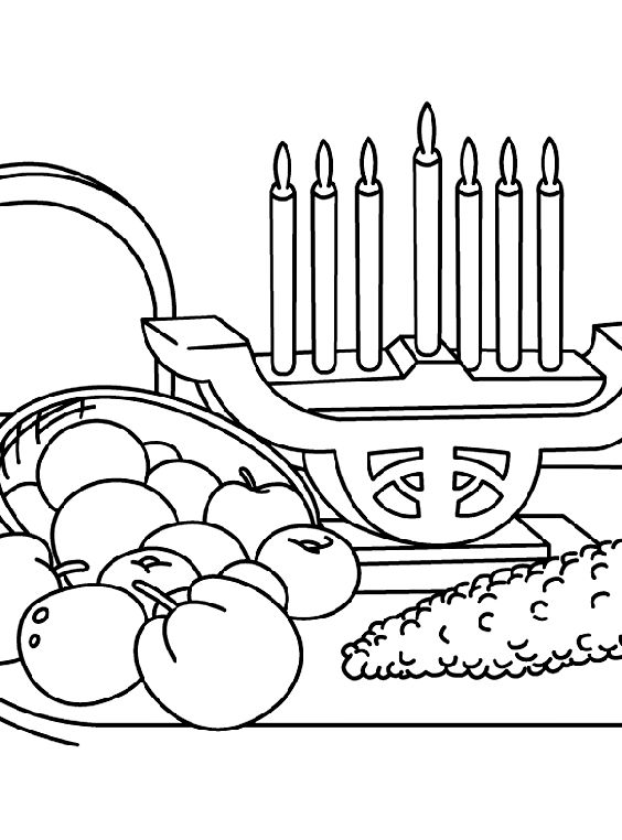 a kwanzaa feast coloring page