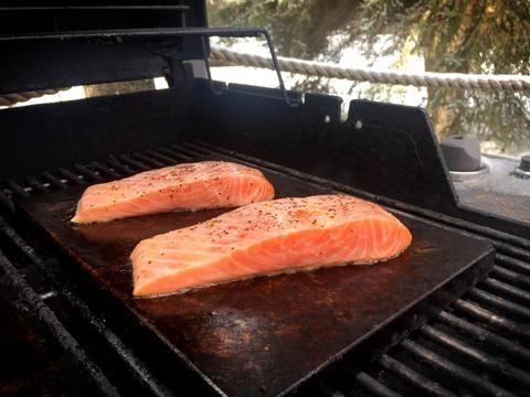 Salmon on Stone