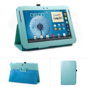 Amazon.com: GMYLE Robin Egg Blue Turquoise PU Leather Slim Folio Perfect fit Stand Case Holder for Samsung Galaxy Note 10.1 Inch N8000 N8010 Tablet: Computers & Accessories