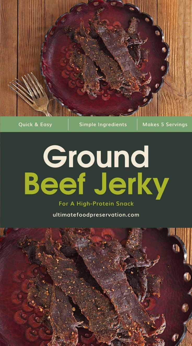 Ground Beef Jerky For A High Protein Snack Recipe Ufp Recipe In 2020 Jerky Recipes High Protein Snack Recipes Beef Jerky Recipes