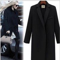 2017 Горячие Продажа кашемир куртка женщин осень зима пальто толстый верхняя одежда плюс размер шерстяные blazer повседневная верхней одежды шерсти пальто