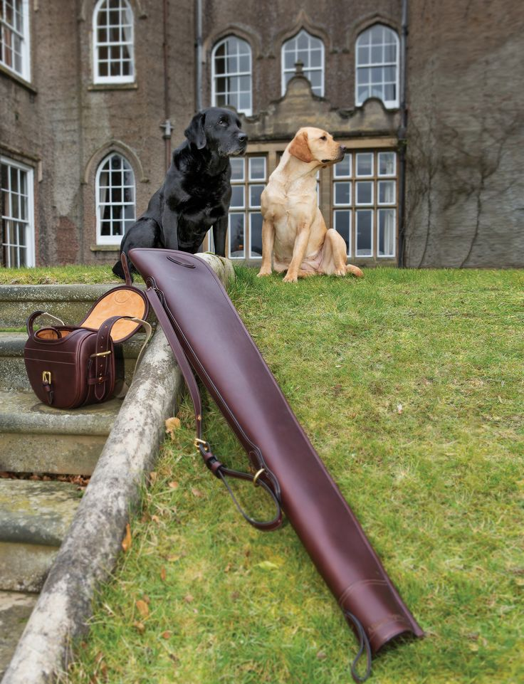 Our beautiful, bespoke leather gun slips are available to purchase for a single or double shotgun/rifle. You can choose from a full zip or flap & buckle openings #TeamAlbion #AlbionAddict #AlbionEngland #Country #Lifestyle #Shooting #Gun #Field #Horse #Hound