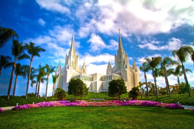 San Diego California LDS Temple - This is where my dad served his mission!