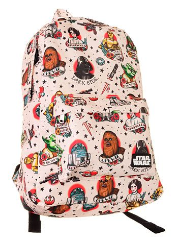 Star Wars Retro Tattoos Backpack $42.00 at PLASTICLAND