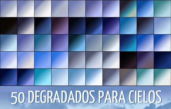 50 Photoshop Realistic Sky Gradients   Pack de 50 Degradados Photoshop para Cielos
