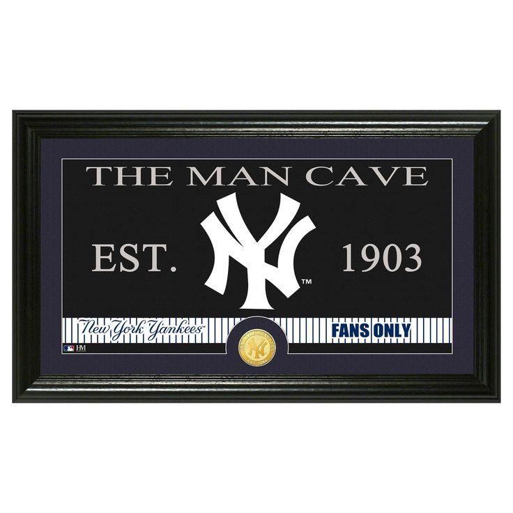 The Highland Mint MLB Man Cave Framed Wall Poster Print New York Yankees