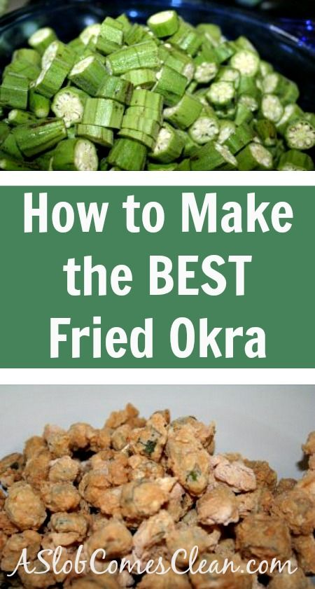 How to Make the Best Fried Okra - A Slob Comes Clean