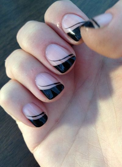 black french tip nail designs - Yahoo Image Search Results