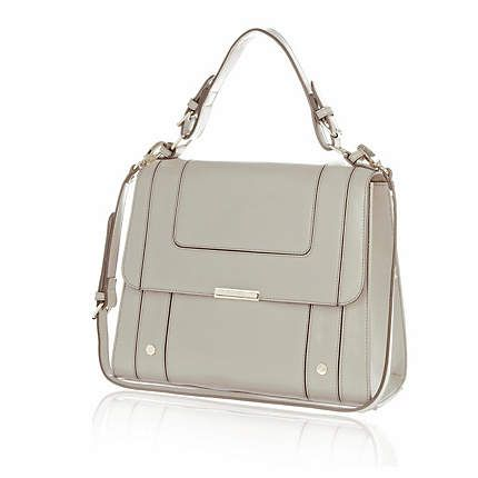 Pale grey structured panel square bag £35.00
