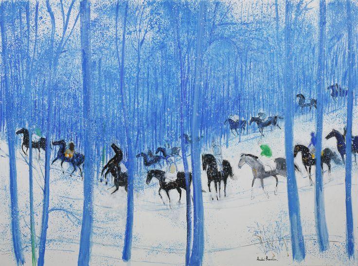André Brasilier \ Женщины и лошади в цветах   Amok1 · Colourful ArtColor ...