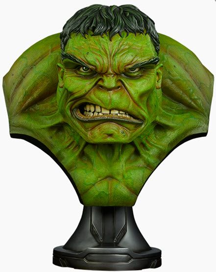 This huge collectilble Hulk bust from Sideshow toys is 26-inches tall.