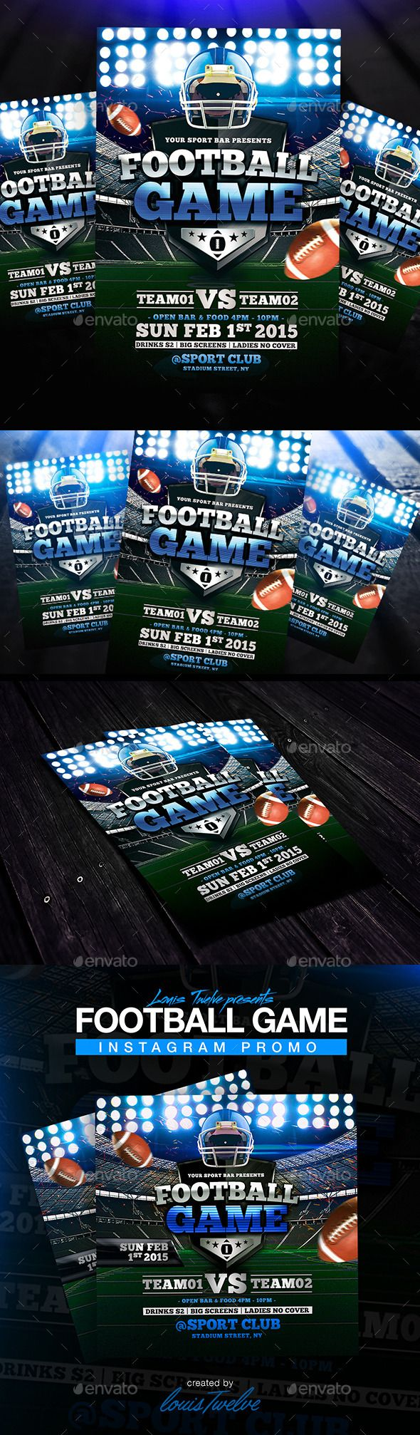 best images about flyers template saturday night football game flyer instagram promo