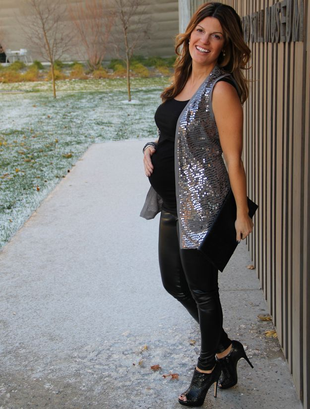 Fashion blogger Marionberry Style wearing the Sequin Collar Waistcoat
