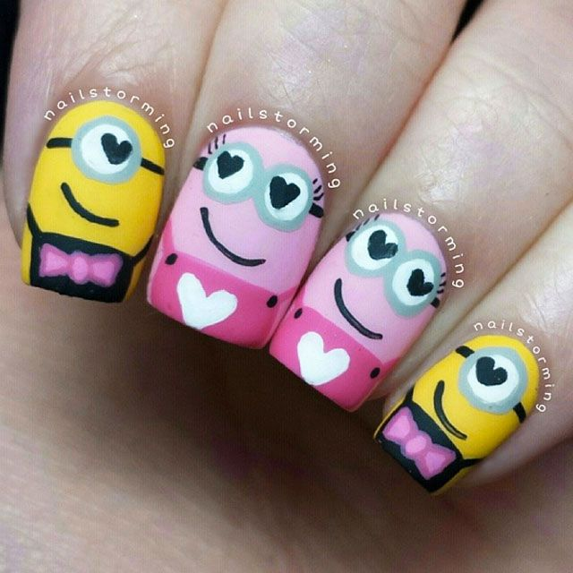 valentine nail decor