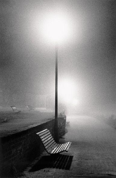 Photo by Michael Kenna  Night Walk / Promenade nocturne  Richmond, Surrey, England, 1983
