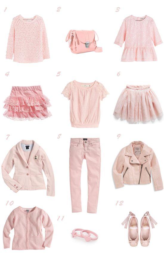 Dusty pink / Selección moda niña rosa empolvado primavera 2014