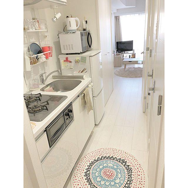 部屋全体 1k 一人暮らし ひとり暮らし 6 5畳 などのインテリア実例