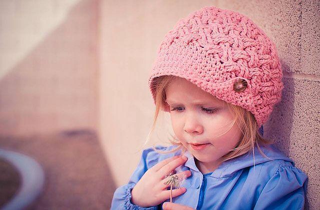 Ravelry: Diagonal Weave Beanie or Newsboy pattern by Crochet by Jennifer  #crochet  #crochetpattern  #crochethat