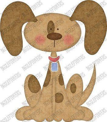 S- SL- PUPPY DOG ~ Scrapbook Embellishment PUPP78