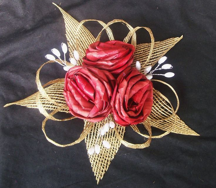 (8) Cake Toppers & Decorations - Fabulous Flax Flower Bouquets and Arrangements