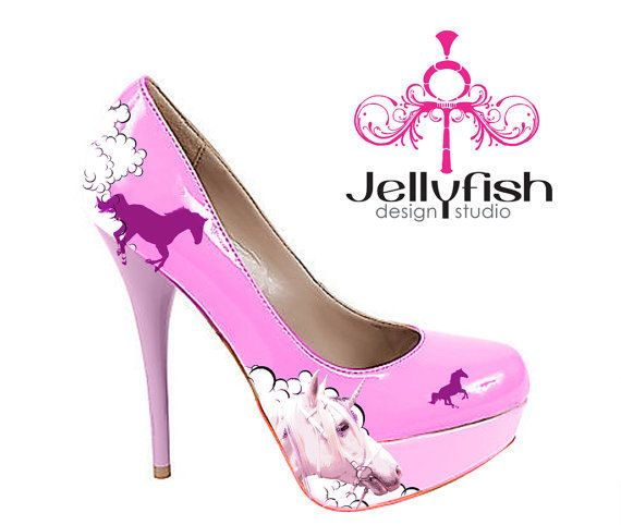 Unicorn Heels @Danielle Lampert Lampert Liss need to find these for you?