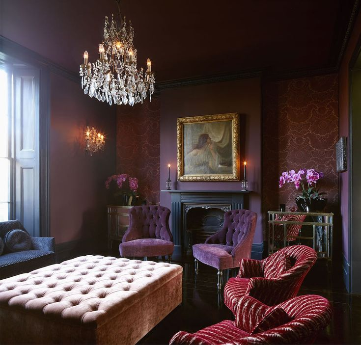 A Heady Mix Of Dark Walls Lacquered Floors Chandeliers And An Array Beautiful