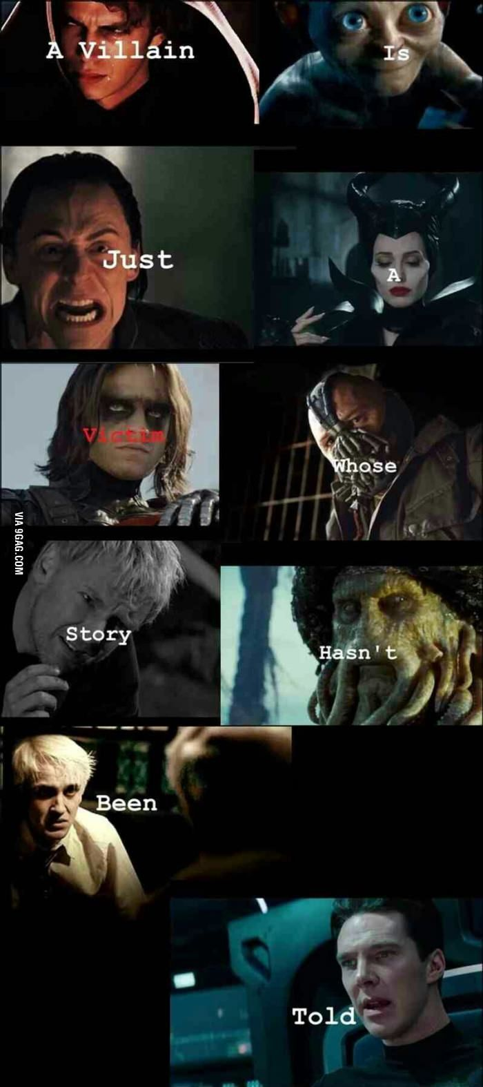 The truth of villain Not always true but it often is
