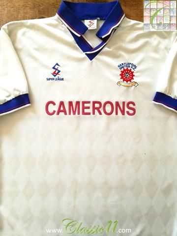 Official Super League Hartlepool United away football shirt from the 1997/1998 season.