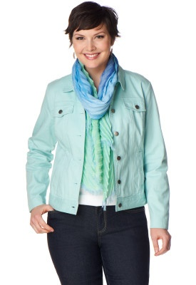 Colored Denim Jean Jacket - Christopher & Banks...love this look!