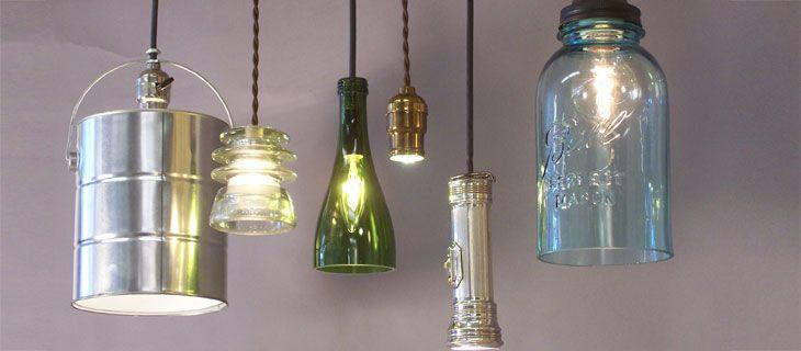Antique, Repurposed Ceiling Light Fixtures