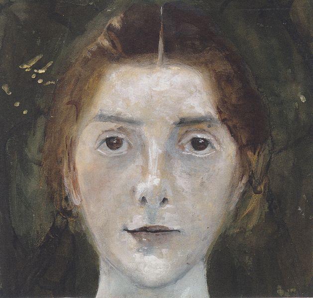 Paula Moderson Becker, Selbstportrait.
