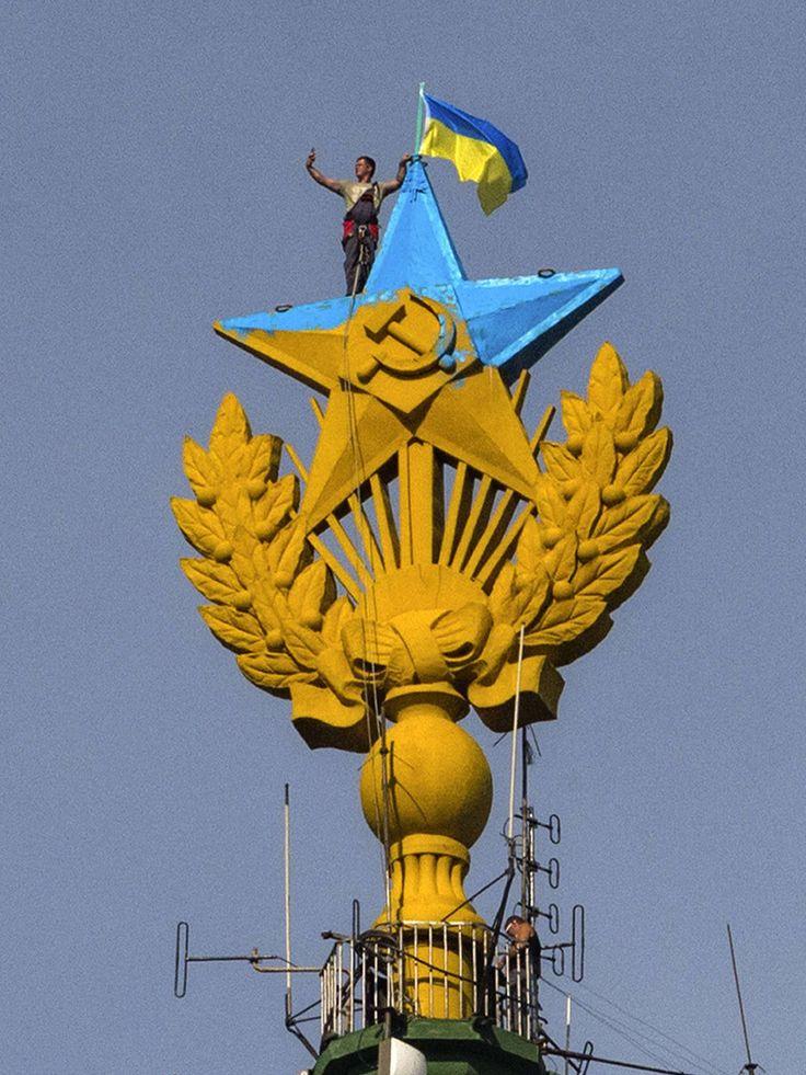 Ukraine : ils ont repeint l'étoile de Moscou